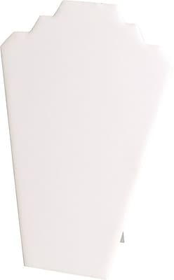 Necklace Display White Padded Card, 12-1/2