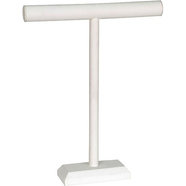Jewelry T-Bar White Leatherette 14
