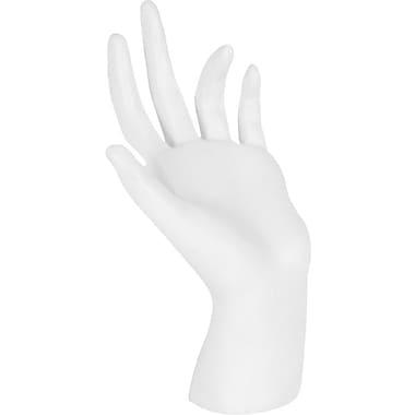 Hand Display, White, Plastic, 6-1/4