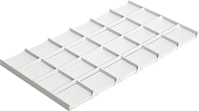 Tray Insert, White Leatherette, 24 Compartment