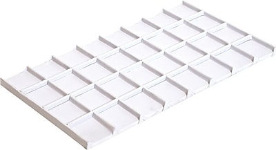 Tray Insert, White Leatherette, 32 Compartment