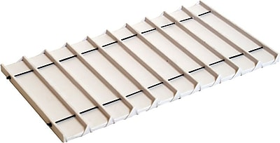 Tray Insert, White Leatherette, 10 Compartment