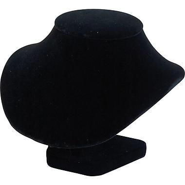 Necklace Bust Display, Black Velvet, 5-3/4