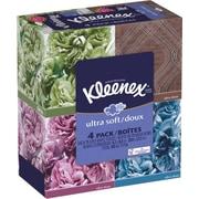 Kleenex® 3-Ply Ultra Soft Facial Tissue, 75 Sheets/Box, 4 Boxes/Pack