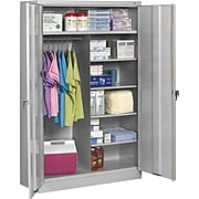 "Tennsco® Jumbo Combination Steel Storage Cabinet, Light Gray, 78H x 48W x 24""D"