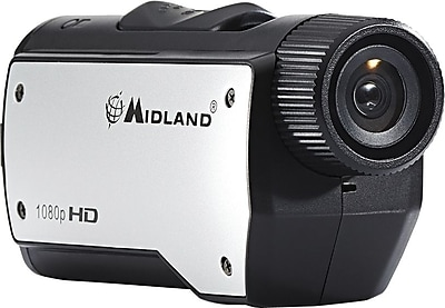 Midland XTC280VP HD 1080p Action Camera, Black/Silver