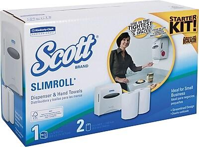 Scott® Slimroll™ Paper Towel Starter Kit with White Dispenser