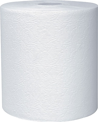 Kleenex® Hardwound Paper Towels, 1-Ply, White, 600 Feet/Roll, 6 Rolls/Carton (11090)