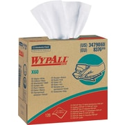 "Wypall® X60 Hydroknit Wipe, Unscented, White, 16.8""(W) x 9.1""(L)"
