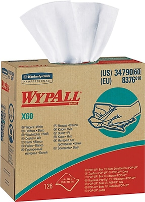 Wypall® X60 Hydroknit Wipe, Unscented, White, 16.8