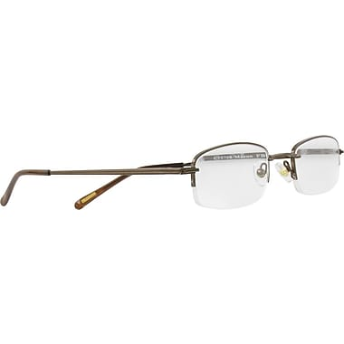 Foster Grant® Classic Men's Semi Rimless Brown Reading Glasses, Black, 1.25 Diopter