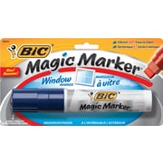 BIC Magic Marker Window Marker, Jumbo Chisel Tip, Blue, Each by