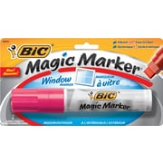 BIC® Magic Marker® Window Marker, Jumbo Chisel Tip, Pink, Each