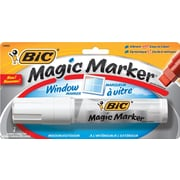 BIC® Magic Marker® Window Marker, Jumbo Chisel Tip, White, Each