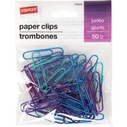 Staples® Jumbo Paperclip 50 PK