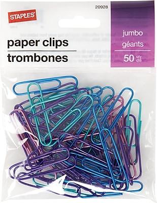 Staples® Jumbo Paperclip 50 PK - Metallic