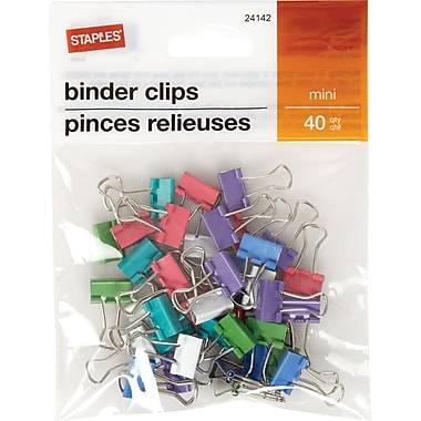 Staples® Binder Clip Mini 40 PK - Fashion