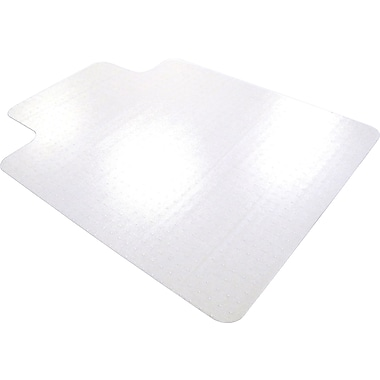 Floortex Cleartex 53''x48'' Polycarbonate Chair Mat for Carpet, Rectangular w/Lip (1113427LR)