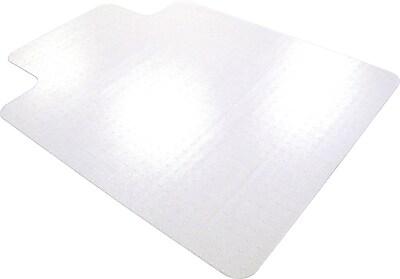 Floortex Cleartex 53''x48'' Polycarbonate Chair Mat for Carpet, Rectangular w/Lip (1113427LR)