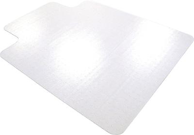 Floortex Ultimat 47''x35'' Polycarbonate Chair Mat for Carpet, Rectangular w/Lip (118927LR)