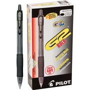 Pilot G2 Premium Retractable Gel Roller Pens, Bold Point, Black, 12/Pack (31256)