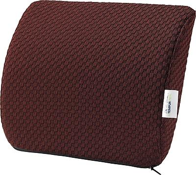 Tempur-pedic® Travel Lumbar Cushion with Fabric Cover, Burgundy