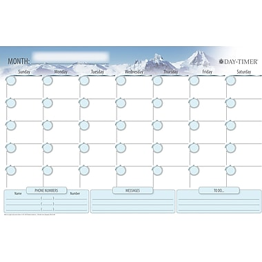 Daytimer® Undated Erasable Flexible Wall Planner, 11