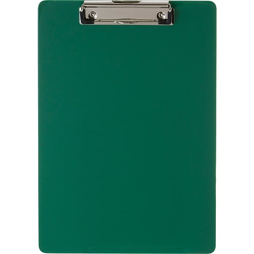 """Officemate® Recycled Plastic Clipboard, Letter, Green, 9"""" x 12 1/2"""""""
