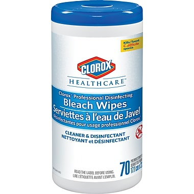 Clorox Healthcare® Professional Disinfecting Bleach Wipes, 6/Packs of 70 (CL01308)