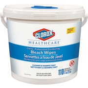 Clorox Healthcare Disinfecting Bleach Germicidal Wipes, 110 Wipes/Pack (CL01309)