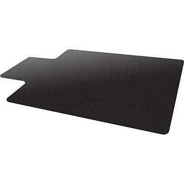 Deflecto Blackmat 48''x36'' Resin Chair Mat for Hard Floor, Rectangular w/Lip, Black (CM21112BLKCOM)