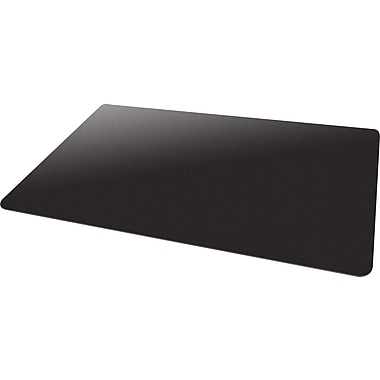 Deflecto Blackmat 60''x46'' Vinyl Chair Mat for Carpet, Rectangular, Black (CM11442FBLKCOM)