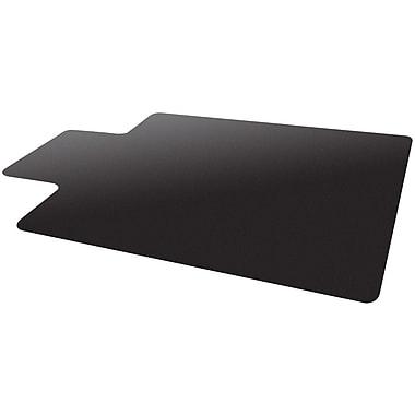 Deflecto Blackmat 53''x45'' Resin Chair Mat for Carpet, Rectangular w/Lip, Black (CM11232BLKCOM)