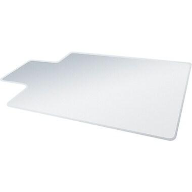 Deflecto RollaMat 60''x48'' Vinyl Chair Mat for Carpet, Rectangular w/Lip (DEFCM15233)