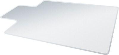 Deflecto UltraMat 53''x45'' Vinyl Chair Mat for Carpet, Rectangular w/Lip (DEFCM15433F)