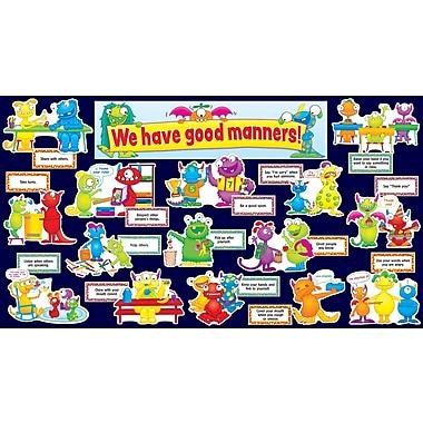 Teacher's Friend Good Manners Monsters Mini Bulletin Board Set, English