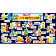Teacher's Friend Good Manners Monsters Mini Bulletin Board Set, English