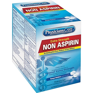 PhysiciansCare® Pain Relief; Non-Aspirin (Acetaminophen), (Compare to Tylenol® Extra Strength), 125 Packets/Bx