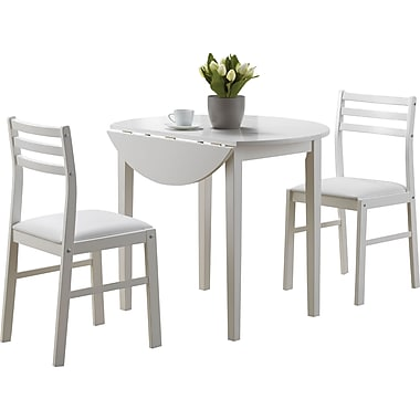 Monarch 3-Piece Dining Set, White
