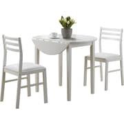 Monarch 3-Piece Dining Set, White