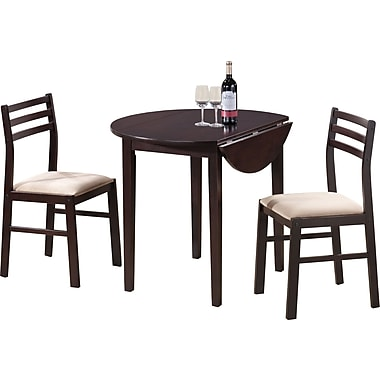 Monarch 3 Piece Dining Set, Cappuccino