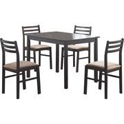 Monarch – Ensemble à dîner 5 pièces, placage cappuccino