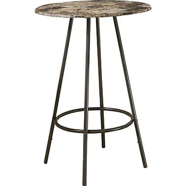 Monarch – Table de bar en métal café/marbre, cappuccino