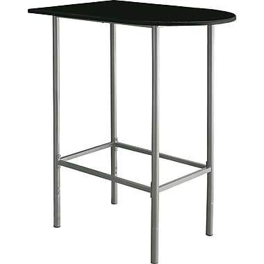 Monarch Metal Spacesaver Home Bar Table, Black /Silver