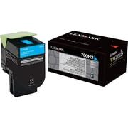 Lexmark Cyan Toner Cartridge (70C0H20), High Yield