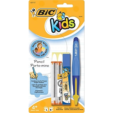 BIC® Kids Mechanical Pencil, Blue Barrel with Yellow Accents, 1.3 mm, Each