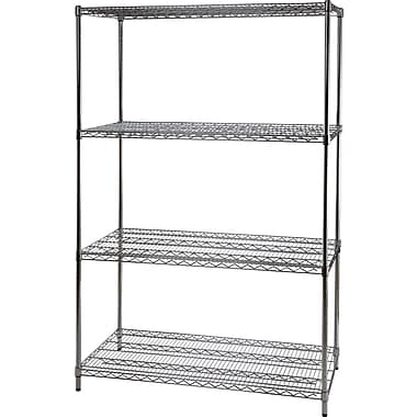 Staples® Wire Shelving, 4 Shelves, 72