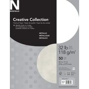 "Neenah Creative Collection™ Metallic Premium Paper, 32 lb., 8-1/2"" x 11"", 50 Sheets/Pack"