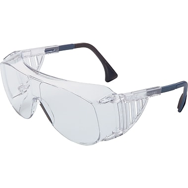 Sperian Ultra-spec® OTG Safety Glasses, Adjustable Temples, Anti-Scratch, Hard Coat, lear