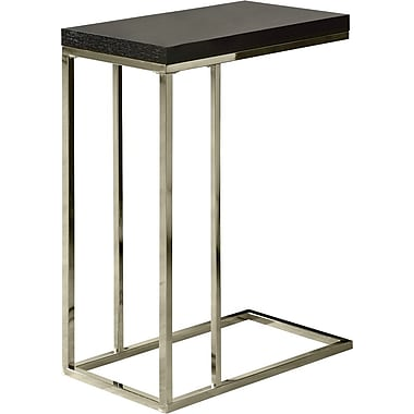 Monarch Metal Accent Table, Hollow-Core, Cappuccino / Chrome